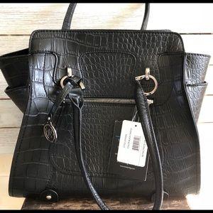 NWT Black London Fog Satchel handbag